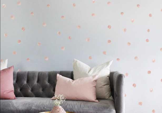 Mini Watercolor Raindrop Wall Decal - Wayfair