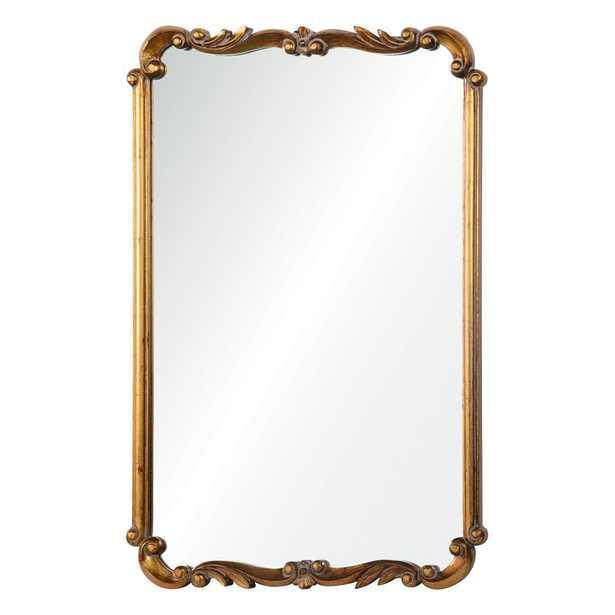 Rectangle Gold Wall Mirror - Wayfair