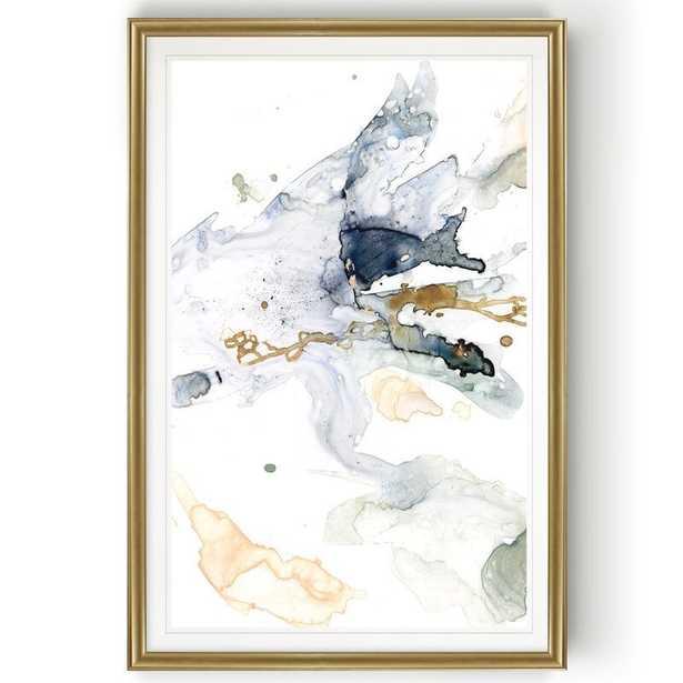 'Organic Interlace II' - Painting Print on Canvas-Gold Frame - Wayfair