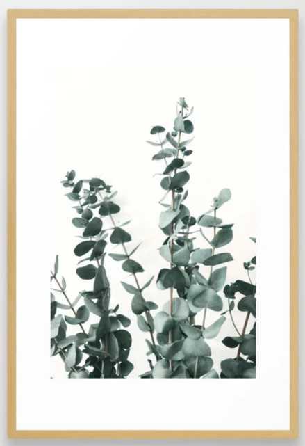 "Eucalyptus Leaves Framed Art Print - Conservation Natural 26"" X 38"" - Society6"