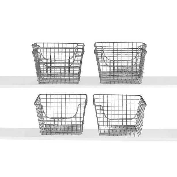 Scoop Metal/Wire Basket (Set of 6) - Wayfair