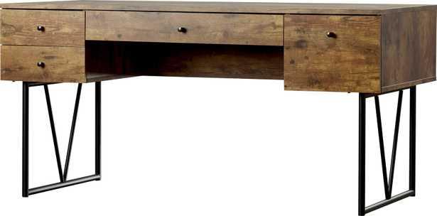 Granite 4 Drawers Writing Desk - AllModern