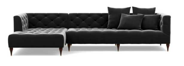 MS. CHESTERFIELD Sectional Sofa with Left Chaise - Interior Define