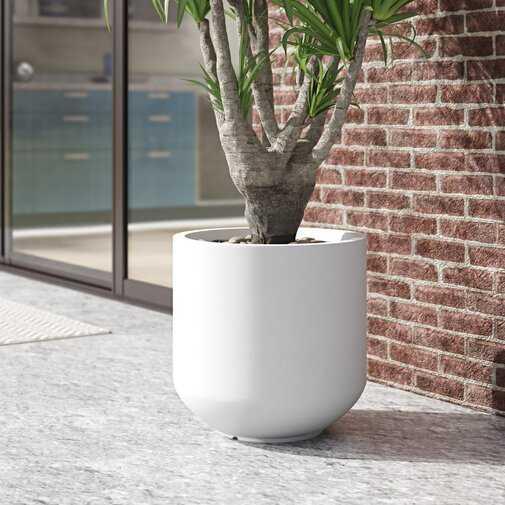 Smithton Fiber Clay Pot Planter - Wayfair