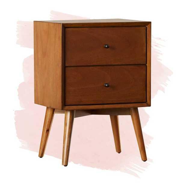 Parocela 2 Drawer Nightstand - Acorn - Wayfair