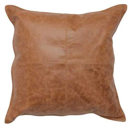 Leather Dumont Chestnut Pillow - Burke Decor