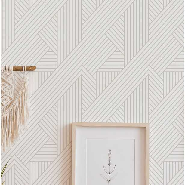 Senn Interwoven Parquet Peel and Stick Wallpaper Roll - Wayfair