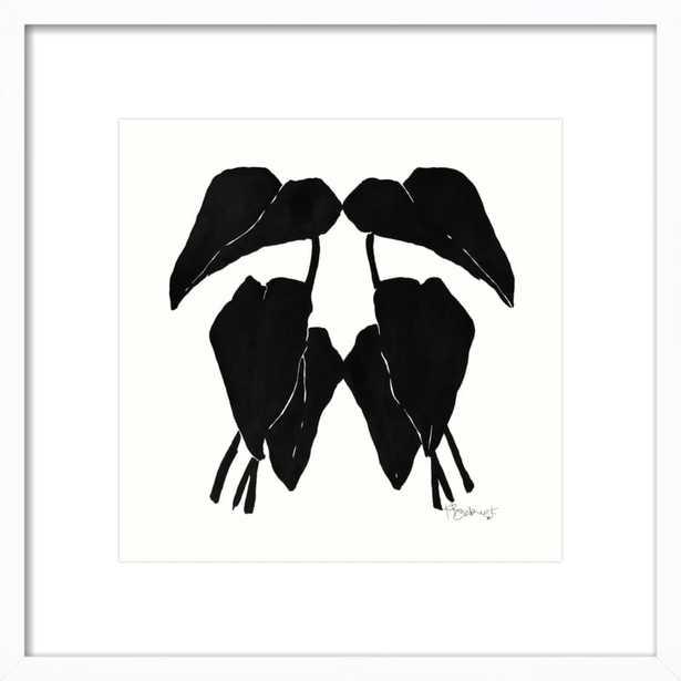 "Arrowhead Vine - 21x21"" - White Wood Frame with Matte - Artfully Walls"