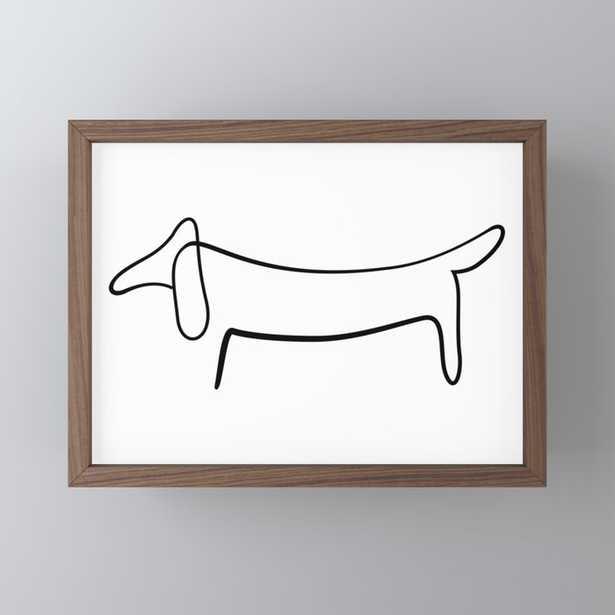 Picasso Dog Print Modern Sketch Picasso Framed Mini Art Print - Society6