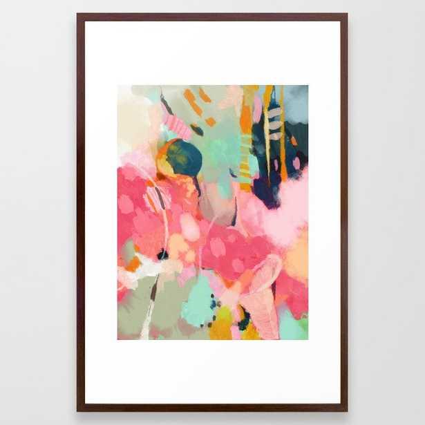 spring moon earth garden Framed Art Print - Society6