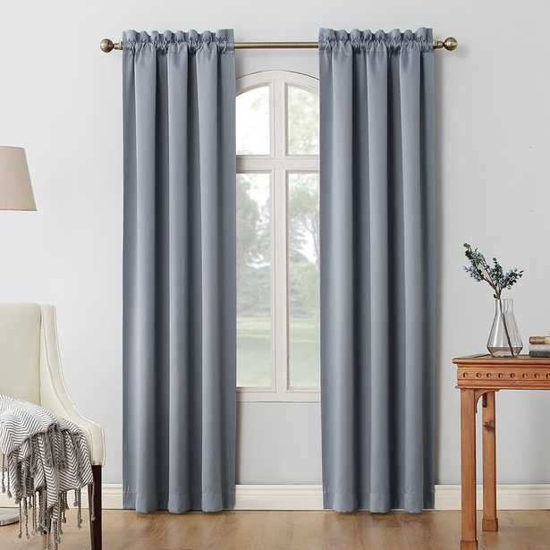 Oslo Solid Max Blackout Thermal Rod Pocket Curtain Panels (Set of 2) - Wayfair
