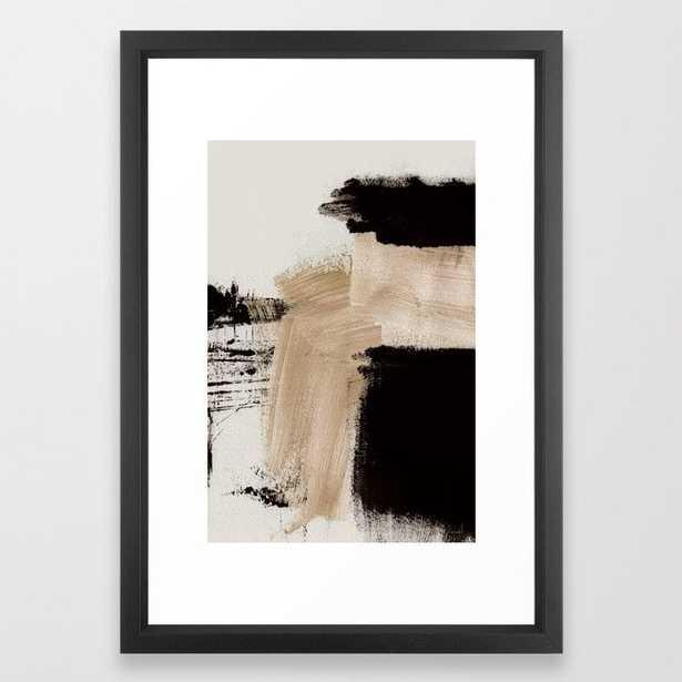 Path Framed Art Print-Vector Black - Small (Gallery) -15 x 21 - Society6