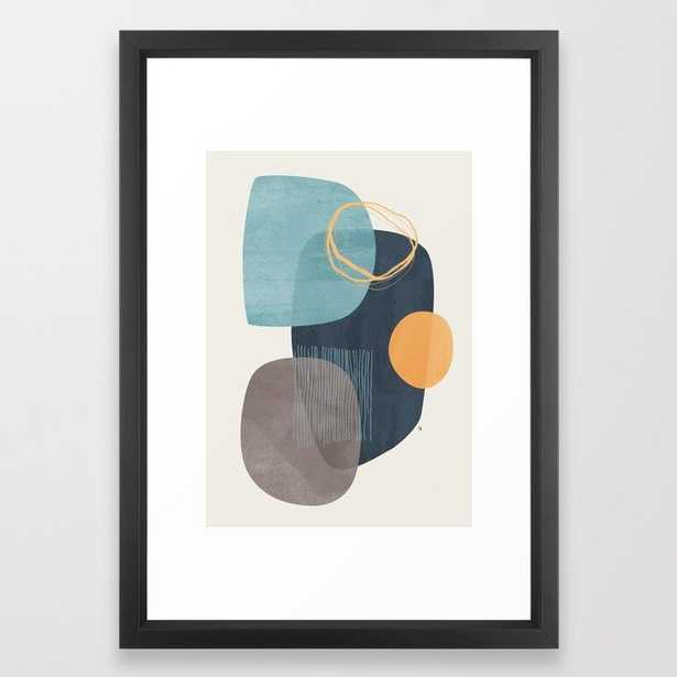 Cyra Framed Art Print, Vector Black Frame - Society6
