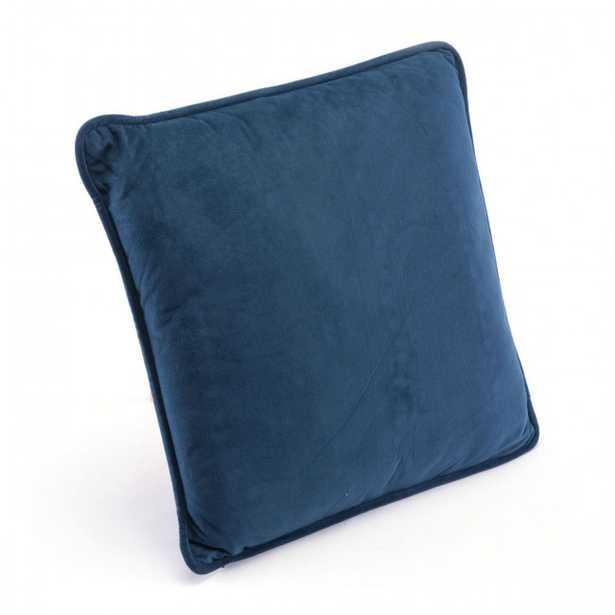 Navy Pillow Navy Velvet - Zuri Studios