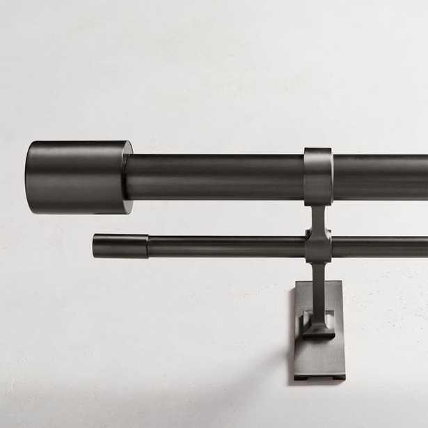 Oversized Metal Double Rod - Antique Bronze - West Elm