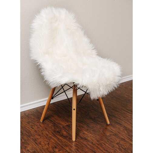 Keanu Faux Sheepskin White Indoor/Outdoor Area Rug - Wayfair