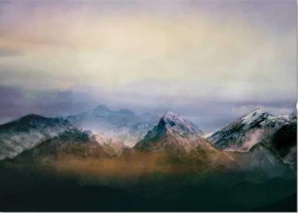 Mountain Peaks II Canvas Print - Society6