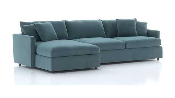 Lounge II 2-Piece Sectional Sofa- View, Nile - Crate and Barrel
