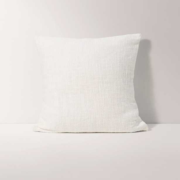 Burrow Ivory White Square Throw Pillow, Solid Pattern - Decorative Pillows - Burrow