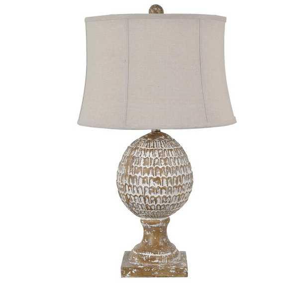 "Redeker 31"" White Wash Table Lamp - Wayfair"