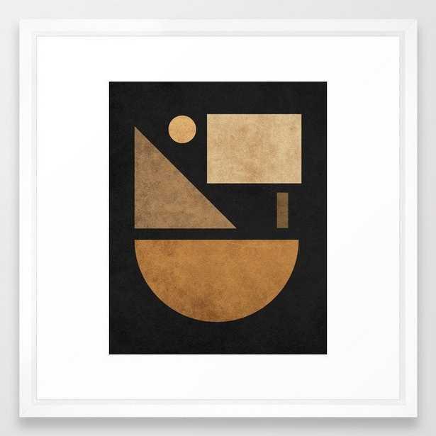 Geometric Harmony Black 03 - Minimal Abstract Framed Art Print - Society6