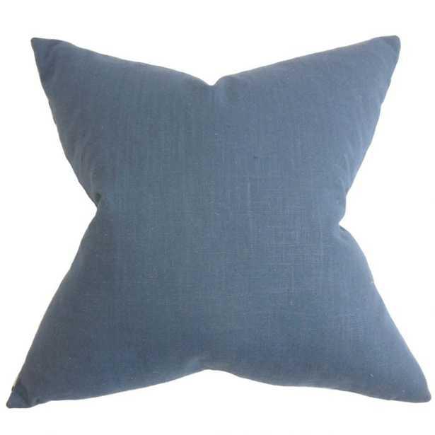 NINIAN SOLID EURO PILLOW BLUE - Linen & Seam