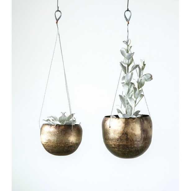 Keasler Hanging 2-Piece Metal Hanging Planter Set - Wayfair