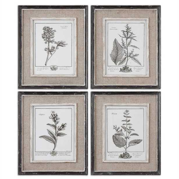 Casual Grey Study Framed Prints, S/4 - Hudsonhill Foundry