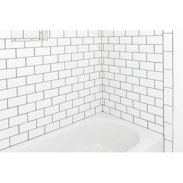 "Nantucket 3"" x 6"" Ceramic Subway Tile in Gloss Ice White - Wayfair"