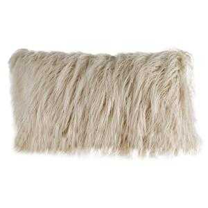 Mina Victory Shag Navy 20 in. x 20 in. Plush Yarn Shimmer Shag Throw Pillow, Blue - Home Depot