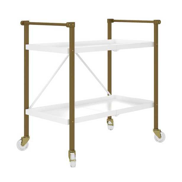 Trevia Folding Bar Cart - Wayfair