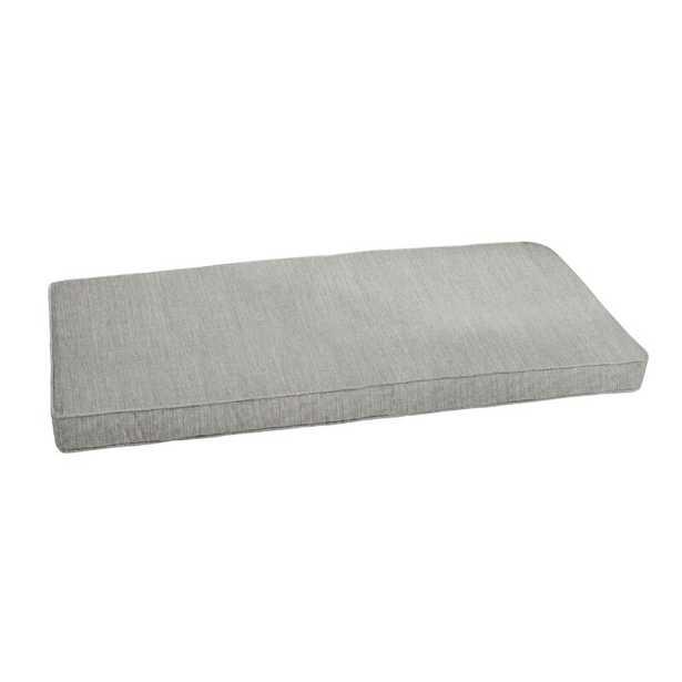 Canvas Granite Indoor/Outdoor Sunbrella Bench Cushion - Wayfair