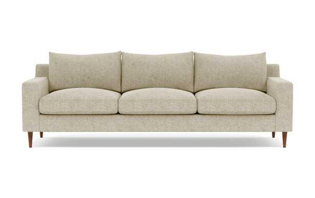 Sloan 3-Seat Sofa/ Opal + Oiled Walnut Tapered Round Wood - Interior Define