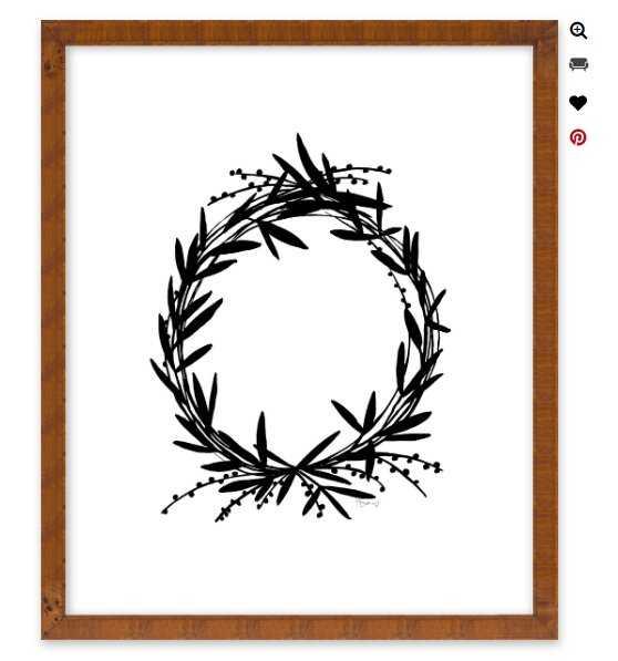 Black Wreath by Kate Roebuck for Artfully Walls - Artfully Walls