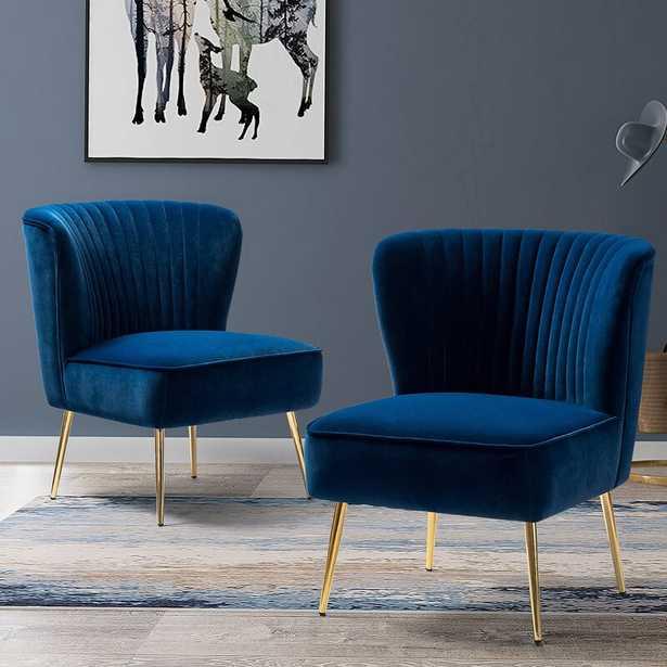 Alfredo 30.5'' Wide Tufted Velvet Side Chair (Set of 2) - Wayfair