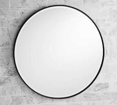 Vintage Round Mirror, Extra Large, Antique Bronze - Pottery Barn