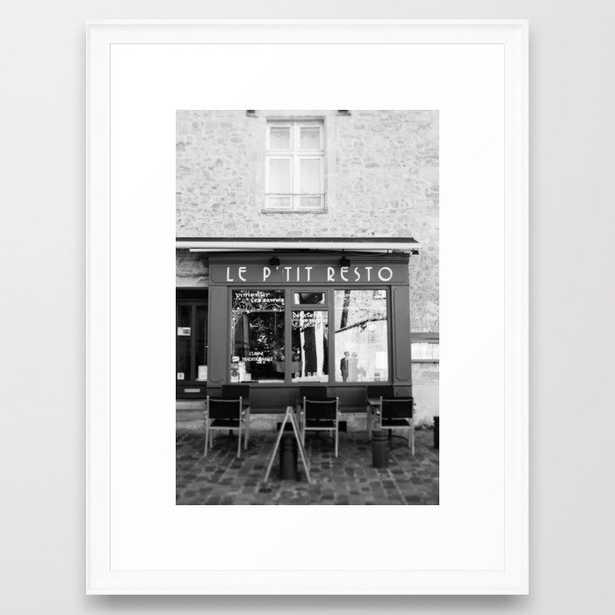 Le P'tit Resto // France - travel photography Framed Art Print - Society6