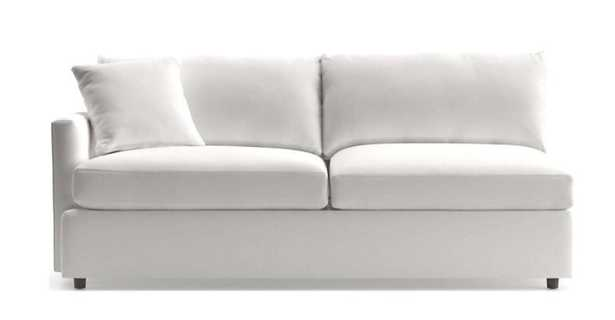 Lounge II Petite Left Arm Sofa- View White - Crate and Barrel