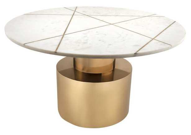Phoenix WHITE MARBLE COFFEE TABLE - Maren Home