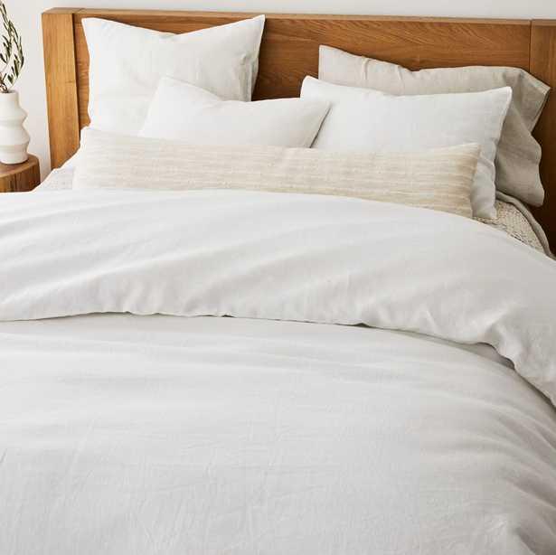 European Flax Linen Duvet Cover – White - West Elm