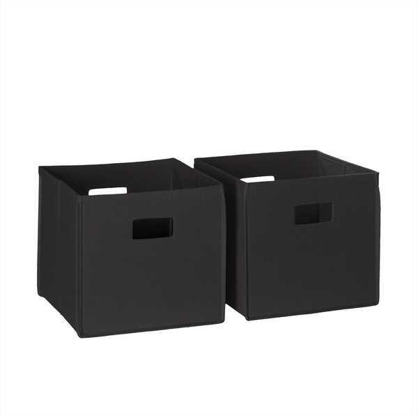 10.5 in. x 10 in. Folding Storage Bin Set in Black (2-Piece) - Home Depot