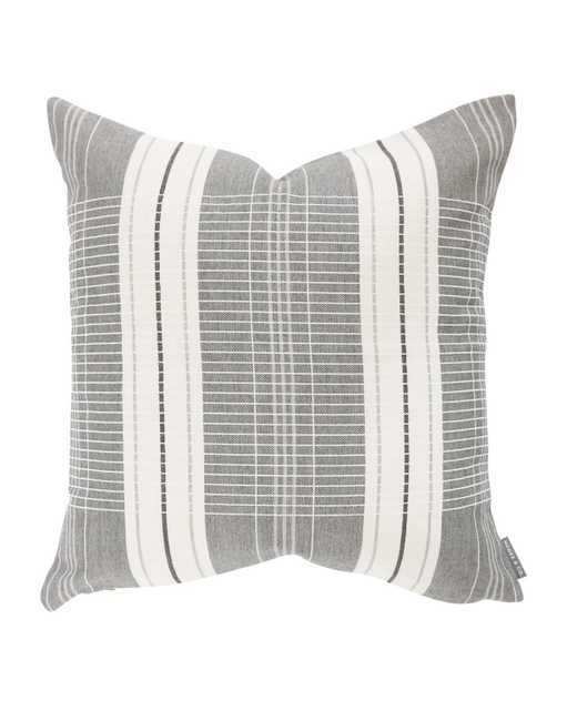 """OXFORD WOVEN PLAID WITHOUT INSERT, GRAY, 24"""" x 24"""" - McGee & Co."""