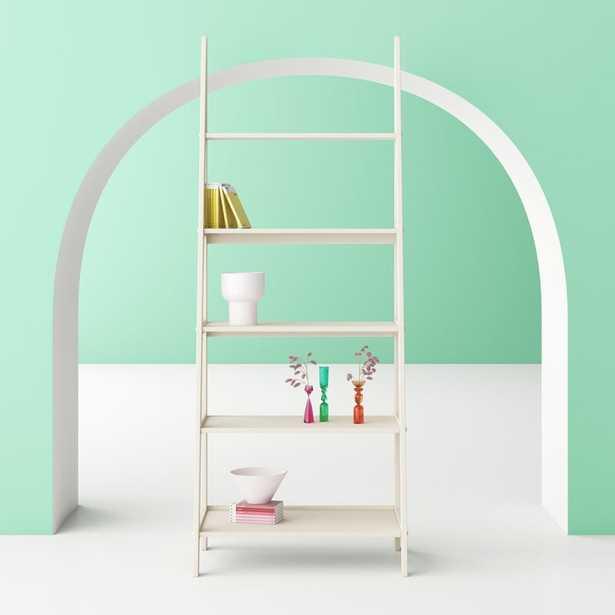 Polar White Aries Ladder Bookcase - Wayfair