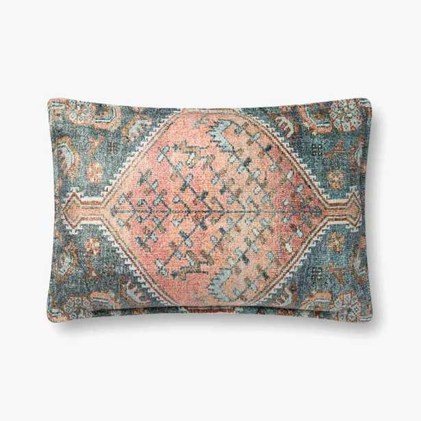 """P0821 MULTI 16x26"""" PILLOW COVER WITH DOWN INSERT - Loma Threads"""