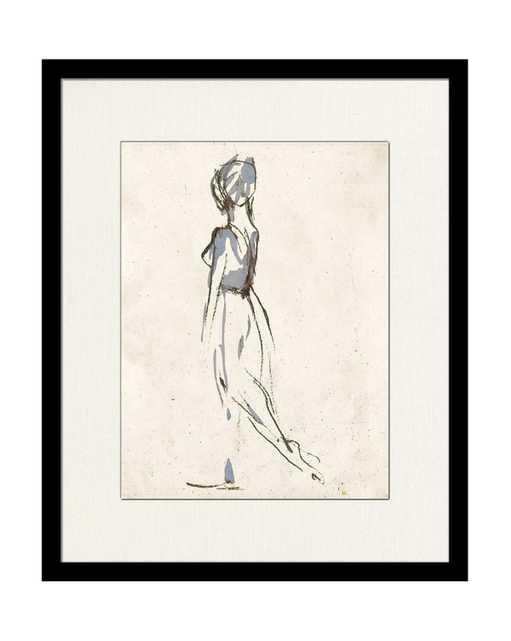 BALLERINA SKETCH 1 Framed Art - McGee & Co.