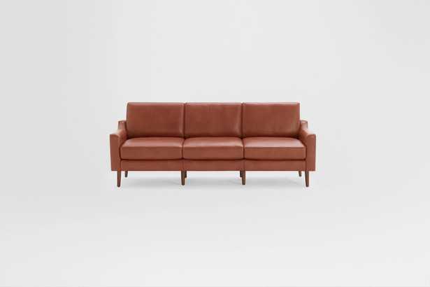 Nomad Leather Sofa - Chestnut - Burrow