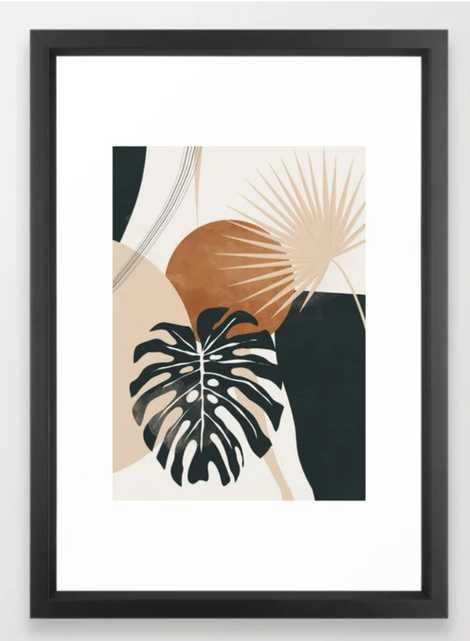 Abstract Art Tropical Leaves 7 Framed Art Print - Society6