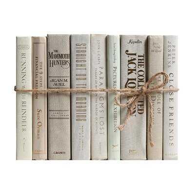 Authentic Decorative Books - By Color Modern Beach ColorPak (1 Linear Foot, 10-12 Books) - Wayfair