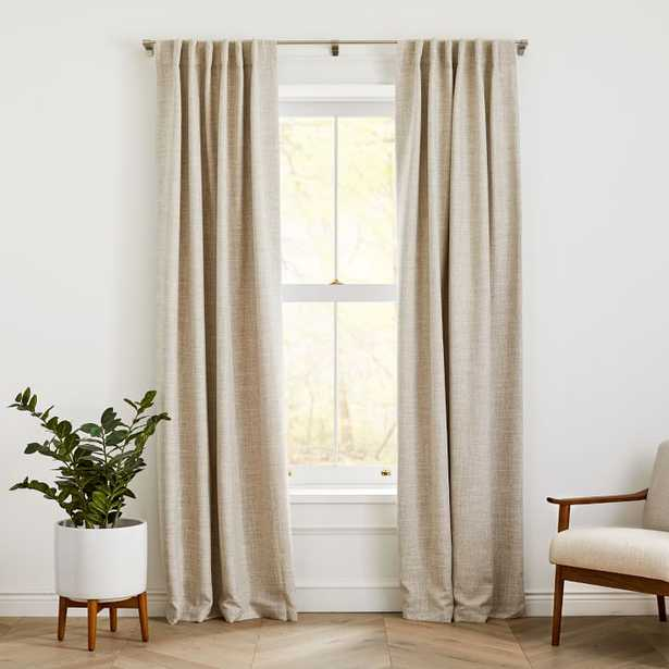 """Crossweave Curtain with Black Out Belgian Flax 48""""x84"""" - West Elm"""