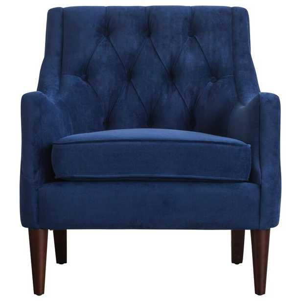 Navy Blue Koss Tufted Armchair - Wayfair